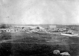 View of Victoria from the Songhees land; see F-08553 to F-08556. [View of Victoria from Cathedral Hill, not Songhees]
