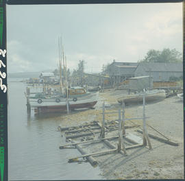 Fish Boats At Old Masset Queen Charlotte Islands