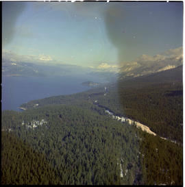 Aerial Crawford Bay Kootenay Lake