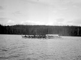 Indian canoes on the Babine River.