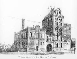 """Where Victoria's Best Beer is Brewed""; north end of Government Street, Victoria, ..."