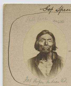 Full face.  Fort Rupert Indian V.I. [Vancouver Island]