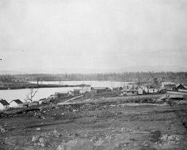 View of Victoria from Church Hill, looking wesst; Inner Harbour, James Bay on left; Laurel Point,...
