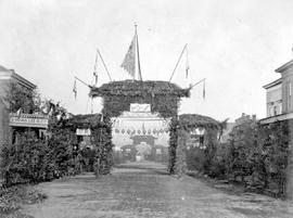 Second Chinese Arch On Cormorant Street Erected For Visit  Of The Earl Of Dufferin, Governor-General Of Canada
