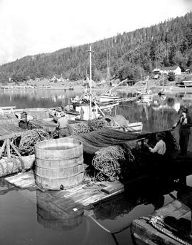 Mending Dogfish Nets, Queen Charlotte City