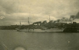 """C.P.R. Steamer Empress of China at Docks; Vancouver, BC"""