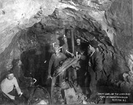 """500 ft. level of the Leroy Mine""; Rossland, BC."