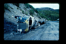 Alaska Highway, truck accident