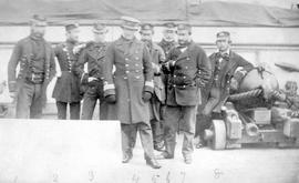 Officers of HMS Satellite.