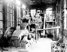 """Ollis Chalmers Rolls Crushing Plant, CMS Co. Concentrator, Kimberley, BC."""