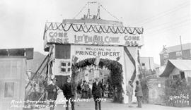 """Arch - Dominion Day Celebrations 1909, Prince Rupert, BC"""