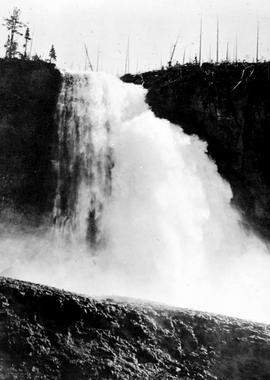 """Della Falls (1580 feet fall) on Drinkwater Creek, tributary of Stamp River, Vancouver Islan..."