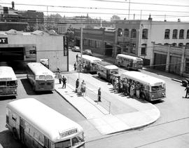 Vancouver Island Coach Lines depot; Victoria; seen from the Times building on Broughton Street; G...