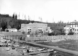 View of the residential school at Alert Bay, BC.