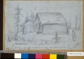 """Polling booth, Salt Spring Island election; N.B. no association with the Returning Officer...."