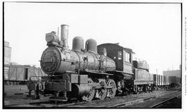 0-6-0 Esquimalt and Nanaimo [E & N] No. 6049 Switcher, 3/4 left. Closeup. Lettered for Canadi...