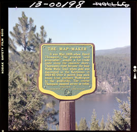 Historical sign in the East Kootenays