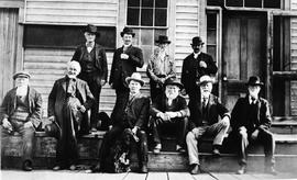 A Group Of Oldtimers Taken At Barkerville.