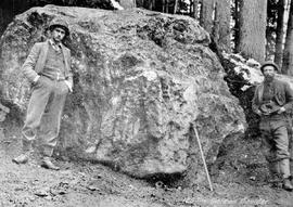 """125 ton Galena Boulder""; found in Sandon Creek."