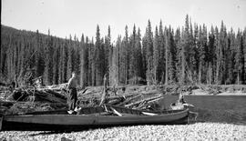 Wrecked boat, Finlay River.