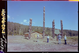 """Totem Poles"" Stop of Interest sign, Kitwancool"