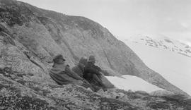 Frank Swannell, A.C. Pollard and Douglas Lowe on Deception Mountain.