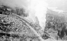 """CPR main line near Yoho, BC""."