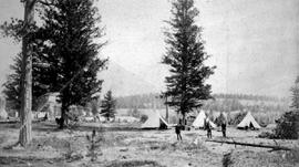 Fort Steele. N.W.M.P. Camp