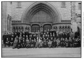 Anglican Synod Group Picture On Front Steps Of Christ Church Cathedral, Victoria; Bishop Schofiel...