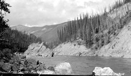 Survey expedition at Long Canyon on the Finlay River.