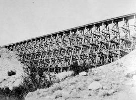 Canadian Pacific Railway Trestle At Lytton