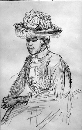 [Seated Woman With Flowered Hat - Josephine Or Susan Crease?]