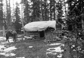 "Larsen's cabin on the ""Poorman"" MC."