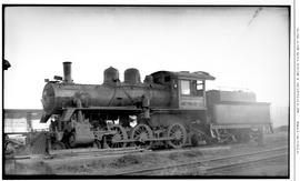 4-6-0 Esquimalt and Nanaimo [E & N] No. 242, Left broadside. Closeup. At Vancouver to be scra...