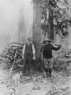 Charles Purver, Sr., and a friend; Straiton, BC.