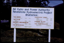 Sign At Mica Dam