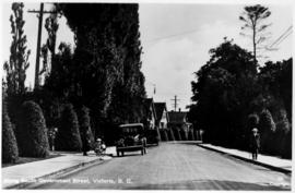 """Along South Government Street, Victoria, BC""; car in the distance facing away from the..."