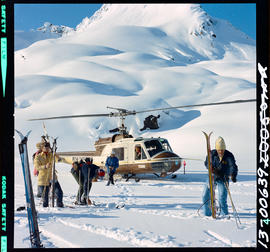 Helicopter Skiing From Bugaboo Creek Loge