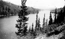 """Another view of the Bulkley River near Smithers""."