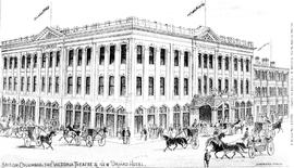 """British Columbia, the Victoria Theatre and New Driard Hotel."""