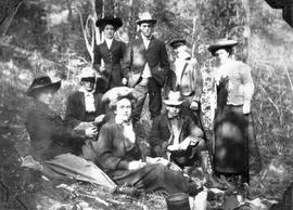 A hunting party including John Pringle and his mother.