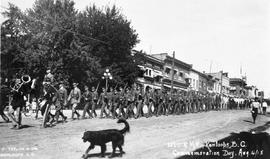 """102 R.M.R. Kamloops, BC, Commemoration Day Aug 4, 1915"""