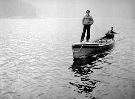 Mahood And Byers In Boat On Coquitlam Lake