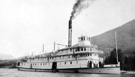 The S.S. Nasookin as a BC Government car ferry