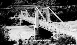 """Alexandra Bridge"", Cariboo Highway; new bridge built in 1926 to replace the 1863 bridge, Yale."