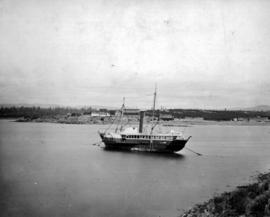 The SS Beaver, in her days as a survey ship, moored in Victoria Harbour.