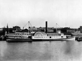 The Steamer SS Yosemite in Victoria Harbour.