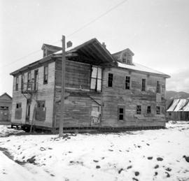 Fort Steele during restoration; the Windsor Hotel.