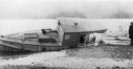 Forest Service; launch, Willow; wrecked at Nakusp, 1924.