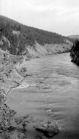 Soda Creek canyon; Fraser River.